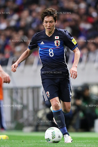 Genki Haraguchi (JPN), MARCH 29, 2016 - Football / Soccer : FIFA World Cup Russia 2018 Asian Qualifier Second Round Group E match between Japan 5-0 Syria at Saitama Stadium 2002 in Saitama, Japan. (Photo by Yohei Osada/AFLO SPORT)