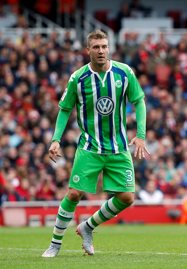Vfl Wolfsburg's Nicklas Bendtner<br /> <br /> Photographer Kieran Galvin/CameraSport<br /> <br /> Football - Emirates Cup - Arsenal v Wolfsburg - Sunday 26th July 2015 - Emirates Stadium - London <br /> <br /> &copy; CameraSport - 43 Linden Ave. Countesthorpe. Leicester. England. LE8 5PG - Tel: +44 (0) 116 277 4147 - admin@camerasport.com - www.camerasport.com