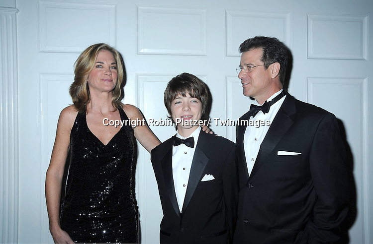 """Kassie DePaiva, son  JQ and husband James DePaiva attending The The Center for Hearing and Communication Centennial  """"Hear for the Future"""" Gala on October 18, 2010 at 583 Park Avenue in New York City."""