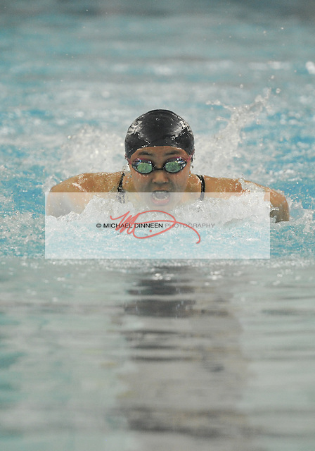 Eagle River's Esther Min wins her preliminary heat of the 100-yard butterfly at the state finals Friday, Nov. 6, 2015.  Photo for the Star by Michael Dinneen