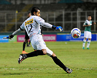 PALMASECA-COLOMBIA, 19-07-2017.  José Fernando Cuadrado en acción contra el  Deportivo Cali durante encuentro  por la fecha 3 de la Liga Aguila II 2017 disputado en el estadio del Deportivo Cali en Palmaseca./ Jose Fernando Cuadrado goalkeeper  of Once Caldas  in actions agaisnt of Once Caldas  during match for the date 3 of the Aguila League II 2017 played at Deportivo Cali  stadium in Palmaseca. Photo:VizzorImage / Nelson Rios  / Cont