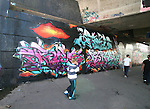 Final Day of 2009 Graffiti Jam under the Bridge of Peace...Photo NEWSFILE/Jenny Matthews.(Photo credit should read Jenny Matthews/NEWSFILE)....This Picture has been sent you under the condtions enclosed by:.Newsfile Ltd..The Studio,.Millmount Abbey,.Drogheda,.Co Meath..Ireland..Tel: +353(0)41-9871240.Fax: +353(0)41-9871260.GSM: +353(0)86-2500958.email: pictures@newsfile.ie.www.newsfile.ie.FTP: 193.120.102.198.