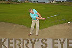 Michael Dowling practing his shots at the Ballyheigue Golf Club on Saturday.....