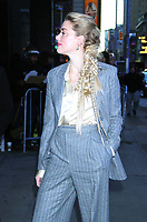 NEW YORK, NY - December 05: Amber Heard at Good Morning America prompting Aquaman in New York City on December 05, 2018. <br /> CAP/MPI/RW<br /> &copy;RW/MPI/Capital Pictures