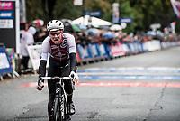 Stefan Küng (SUI/Groupama-FDJ) rolling in<br /> <br /> Elite Men Road Race from Leeds to Harrogate (shortened to 262km)<br /> 2019 UCI Road World Championships Yorkshire (GBR)<br /> <br /> ©kramon