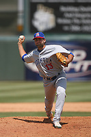 May 14 2009: Chad Kerfoot of the Stockton Ports during game against the Inland Empire 66'ers at Arrowhead Credit Union Park in San Bernardino,CA.  Photo by Larry Goren/Four Seam Images