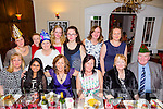 Staff of Tralee, Free Fit Camps enjoying their Christmas party on Saturday night at Denny Lane Bistro Pictured front l-r  Cathy Duggan, Liandra Lukose, Teresa Creegan Stack, Lorraine Finucane, Joan Lane and Paddy Lane. Back l-r Mary Horan, Mary Cahalane, Maria Devoy, Louise Devoy, Andrea Casey, Annette O'Donnell and Shrina O'Sullivan