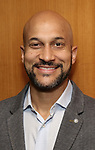 Keegan-Michael Key attends the Theatre Forward Broadway Roundtable on February 2, 2018  at UBS in New York City.