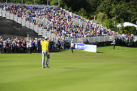 Rafael Cabrera-Bello (ESP) walks to the 18th green during Friday's Round 2 of the 2014 Irish Open held at Fota Island Resort, Cork, Ireland. 20th June 2014.<br /> Picture: Eoin Clarke www.golffile.ie