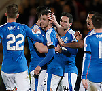 Andy Halliday takes the acclaim after scoring goal no 5 for Rangers