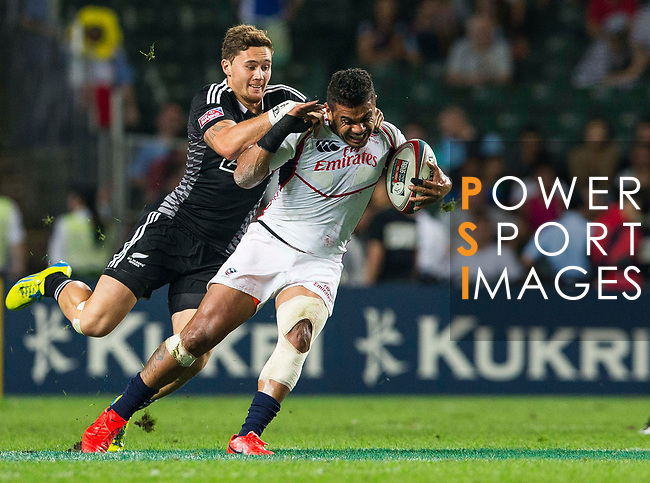 New Zealand play United States on Day 2 of the Cathay Pacific / HSBC Hong Kong Sevens 2013 on 23 March 2013 at Hong Kong Stadium, Hong Kong. Photo by Andy Jones / The Power of Sport Images