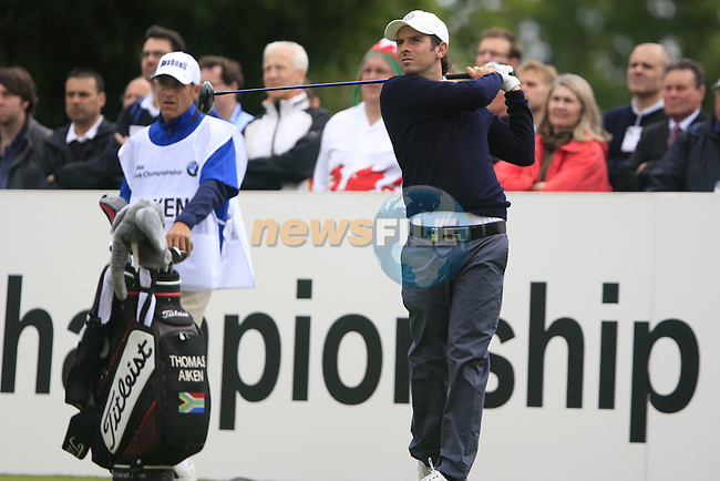 Thomas Aiken (RSA) tees off on the 1st tee to start his round on Day 2 of the BMW PGA Championship Championship at, Wentworth Club, Surrey, England, 27th May 2011. (Photo Eoin Clarke/Golffile 2011)