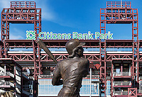 Mike Schmidt sculpture at Citizans Bank Park, Philadelphia, Pennsylvania, USA