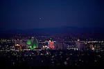 Reno, Nevada on the evening of December 2, 2009.