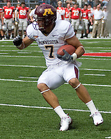 September 27, 2008: Minnesota wide receiver Eric Decker. The Ohio State Buckeyes defeated the Minnesota Gophers 34-21 on September 27, 2008 at Ohio Stadium, Columbus, Ohio.