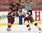 Dana Trivigno (BC - 8), Nikki Friesen (Harvard - 6) - The visiting Boston College Eagles defeated the Harvard University Crimson 2-0 on Tuesday, January 19, 2016, at Bright-Landry Hockey Center in Boston, Massachusetts.