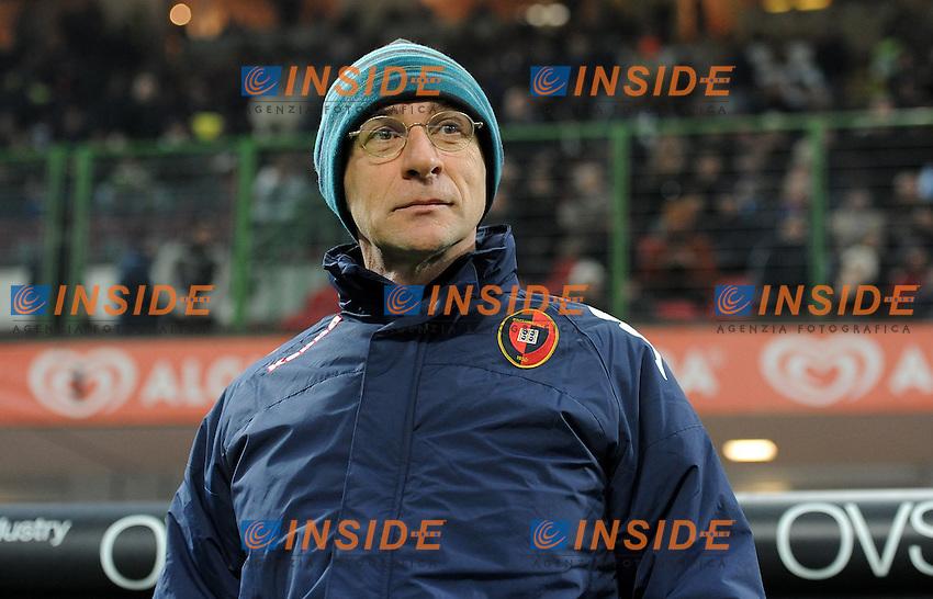 """Davide BALLARDINI (Cagliari).Milano 19/11/2011 Stadio """"Giuseppe Meazza"""".Serie A 2011/2012.Football Calcio Inter Vs Cagliari.Foto Insidefoto Alessandro Sabattini."""