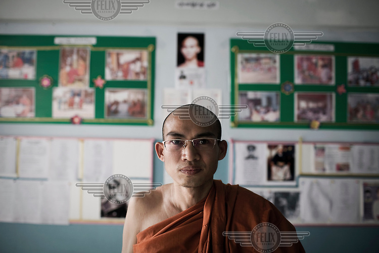 A Burmese monk, known as King Zero, who was one of two monks that led the 2007 anti Burmese government protests that became known as the Saffron Revolution.