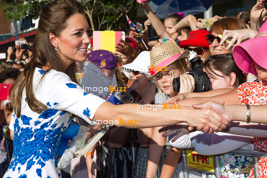 KATE, DUCHESS OF CAMBRIDGE AND PRINCE WILLIAM<br /> carried out a walkabout when they visited Brisbane, Australia<br /> Brisbane, Australia, 19.04.14
