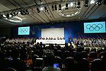 General view, <br /> SEPTEMBER 7, 2013 : <br /> A press conference after Tokyo was announced as the winning city bid for the 2020 Summer Olympic Games at the 125th International Olympic Committee (IOC) session in Buenos Aires Argentina, on Saturday September 7, 2013. (Photo by YUTAKA/AFLO SPORT) [1040]