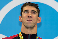 Phelps Michael USA 20th gold olympic medal<br /> 200 butterfly men<br /> Rio de Janeiro  XXXI Olympic Games <br /> Olympic Aquatics Stadium <br /> swimming finals 09/08/2016<br /> Photo Giorgio Scala/Deepbluemedia/Insidefoto