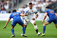 Nathan Hughes of England in possession. Natwest 6 Nations match between France and England on March 10, 2018 at the Stade de France in Paris, France. Photo by: Patrick Khachfe / Onside Images