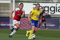 Connie Scofield of Birmingham City Women and Katie McCabe of Arsenal Women during Arsenal Women vs Birmingham City Ladies, FA Women's Super League Football at Meadow Park on 4th November 2018