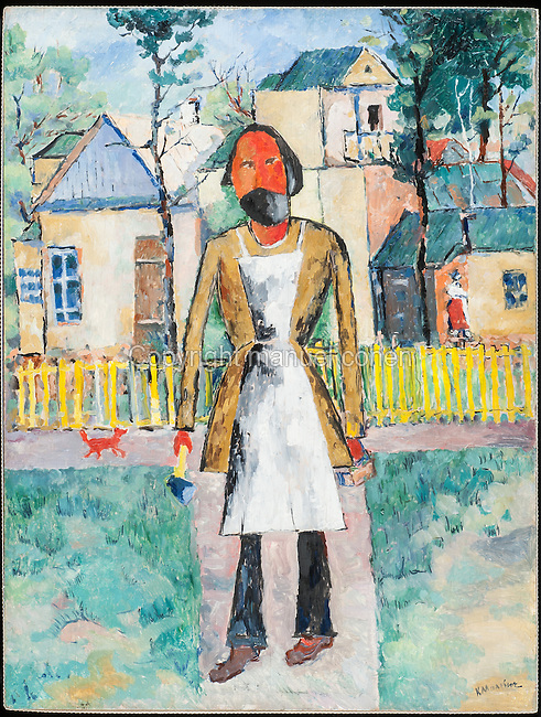 The Carpenter, 1908-1910, oil on canvas, by Kasimir Malevich, 1878-1935, from the collection of the Russian State Museum, St Petersburg, Russia. Malevich was a Russian painter who founded the Suprematist art movement and produced many geometric abstract works. Picture by Manuel Cohen