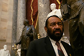 United States Representative Al Green (Democrat of Texas) speaks to reporters on Capitol Hill following the US House vote to kill his resolution to file articles of impeachment against US President Donald J. President Donald J. Trump in Washington D.C., U.S. on July 17, 2019.  <br />