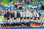 German team and staff after Men's hockey medal ceremony at the Rio 2016 Olympics at the Olympic Hockey Centre in Rio de Janeiro, Brazil.