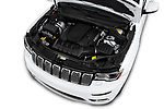 Car Stock 2017 JEEP Grand-Cherokee Summit 5 Door SUV Engine  high angle detail view