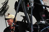May 20, 2012; Topeka, KS, USA: Crew chief Richard Hogan for NHRA top fuel dragster driver Steve Torrence (not pictured) during the Summer Nationals at Heartland Park Topeka. Mandatory Credit: Mark J. Rebilas-