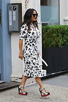 www.acepixs.com<br /> <br /> June 8 2017, New York City<br /> <br /> Actress Salma Hayek wears a summer dress and unusual heels as she leaves a building in Soho on June 8 2017 in New York City<br /> <br /> By Line: Zelig Shaul/ACE Pictures<br /> <br /> <br /> ACE Pictures Inc<br /> Tel: 6467670430<br /> Email: info@acepixs.com<br /> www.acepixs.com