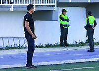 SAN ANDRES - COLOMBIA, 24-03-2019: Jose Garcia técnico de Real durante partido por la fecha 9 del Torneo Águila 2019 entre Real San Andrés y Fortaleza FC jugado en el estadio Erwin O'Neil de SanAndrés Isla. / Jose Garcia coach of Real during match for the date 9 of the Aguila Tourmament 2019 Real San Andres and Fortaleza FC played at Erwin O'Neil stadium in San Andres Islands. Photo: VizzorImage/ James Hunter / Cont