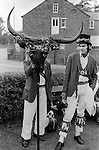The Election of the Mayor of Ock Street, Abingdon, Oxfordshire. England 1971 The Horns.
