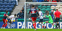 Doncaster Rovers' John Marquis scores the opening goal <br /> <br /> Photographer Alex Dodd/CameraSport<br /> <br /> The Emirates FA Cup Third Round - Preston North End v Doncaster Rovers - Sunday 6th January 2019 - Deepdale Stadium - Preston<br />  <br /> World Copyright &copy; 2019 CameraSport. All rights reserved. 43 Linden Ave. Countesthorpe. Leicester. England. LE8 5PG - Tel: +44 (0) 116 277 4147 - admin@camerasport.com - www.camerasport.com