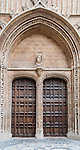 Entrance to Le Seu Cathedral in Palma de Mallorca, Spain