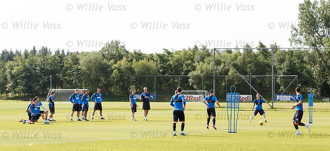 Rangers back on the training field less than 24 hours after playing at Alloa