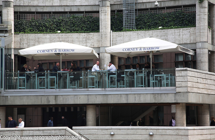 Corney and Barrow restaurant, Broadgate Circus, London, England
