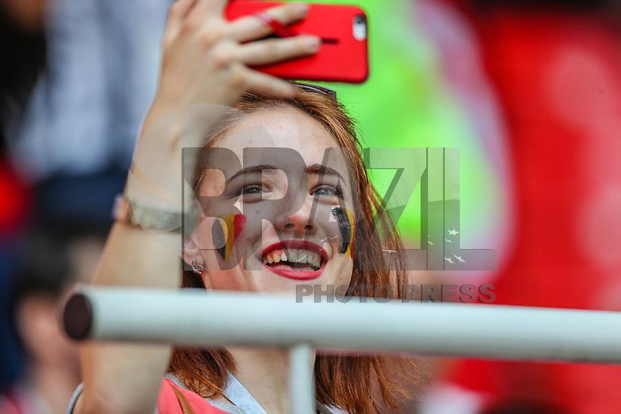 MOSCOU, RUSSIA, 23.06.2018 - BELGICA-TUNISIA - Torcida da Bélgica durante partida contra a Tunisia jogo valido pela segunda rodada do grupo G da Copa do Mundo na Russia 2018  na Estádio Spartak em Moscou na Russia nesta sábado, 23. (Foto: William Volcov/Brazil Photo Press)