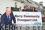 Brendan O'Connor Chairman and fellow directors of Kerry Community Transport who are holding an open day in Castleisland Community Centre on Friday but are worried about the future of the service after the Bord Snip report l-r: George Kelly,John Joe O'Brien, David Fitzgibbon, Hilary Scanlon, Carmel EEalsh Manager and Alan O'Connell Operations Manager