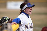 Wildcats' Hannah Russo cheers her teammates in a game against College of Southern Idaho in Carson City, Nev., on Friday, Feb. 27, 2015. <br /> Photo by Cathleen Allison/Nevada Photo Source