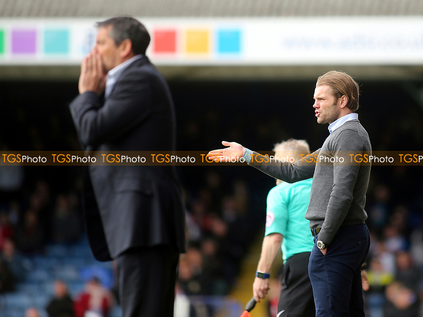 MK Dons Manager, Robbie Neilson during Southend United vs MK Dons, Sky Bet EFL League 1 Football at Roots Hall on 17th April 2017