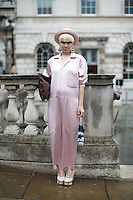Stella Kattermann  London Fashion Week Street Style at Somerset House