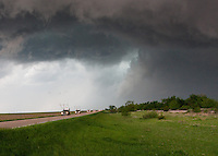 Weather research team driving under a severe thunderstorm near Kearney, NE, May 29, 2008