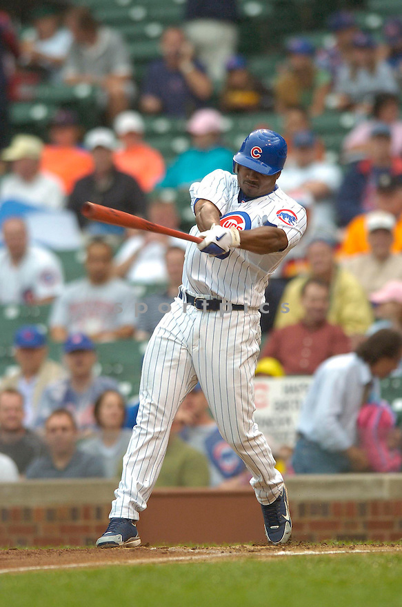 Jacque Jones, of the Chicago Cubs, in action against the Arizona Diamonbacks on August 3, 2006 in Chicago...Dbacks win 10-2..David Durochik / SportPics
