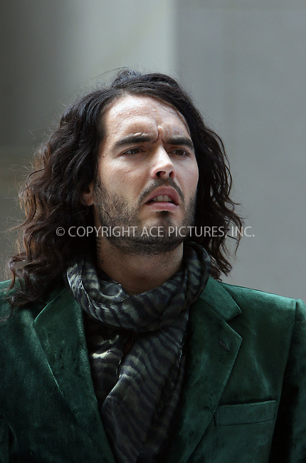 WWW.ACEPIXS.COM . . . . .  ....July 26 2009, New York City....Actor Russell Brand was on the set of the new movie 'Get him to the Greek' at the Rockefeller Plaza on July 26 2009 in New York City....Please byline: NANCY RIVERA- ACE PICTURES.... *** ***..Ace Pictures, Inc:  ..tel: (212) 243 8787 or (646) 769 0430..e-mail: info@acepixs.com..web: http://www.acepixs.com