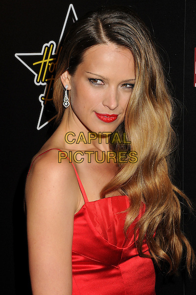 Petra Nemcova  .5th Annual Hollywood Domino Gala & Tournament held at the Sunset Tower Hotel, West Hollywood, California, USA..February 23rd, 2012.dress red lipstick  half length .CAP/ADM/BP.©Byron Purvis/AdMedia/Capital Pictures.