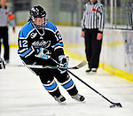 21 February 2009: University of Maine Black Bears' defenseman Melissa Gagnon, a Freshman from St. Gilles, Quebec, in action against the University of Vermont Catamounts at Gutterson Fieldhouse in Burlington, Vermont. The Catamounts shut out the Black Bears 1-0. Mandatory Photo Credit: Ed Wolfstein Photo