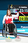 Pyeongchang, Korea, 17/3/2018-Ina Forrest competes in the bronze medal game of wheelchair curling during the 2018 Paralympic Games. Photo: Scott Grant/Canadian Paralympic Committee.